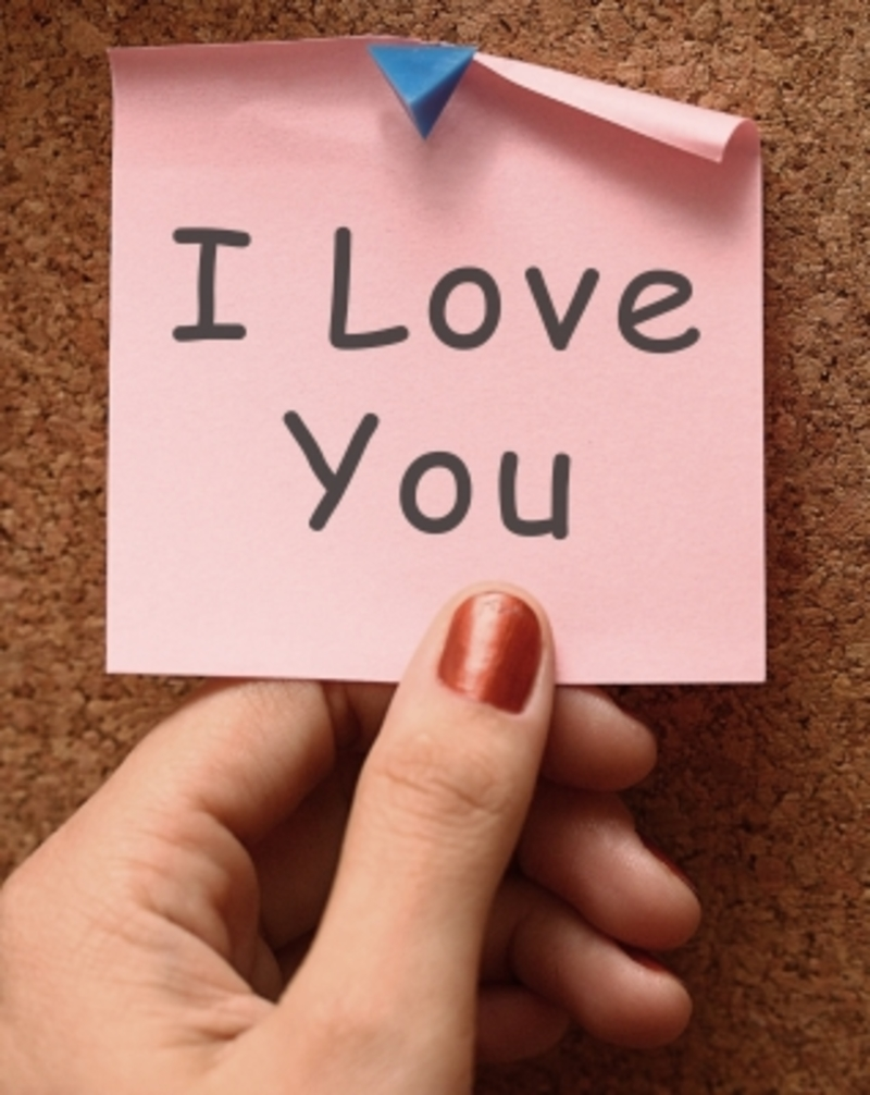 I Love You Post-it Note  - Love Notes