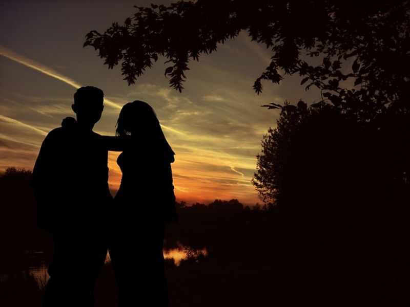 Lovers in Sunset