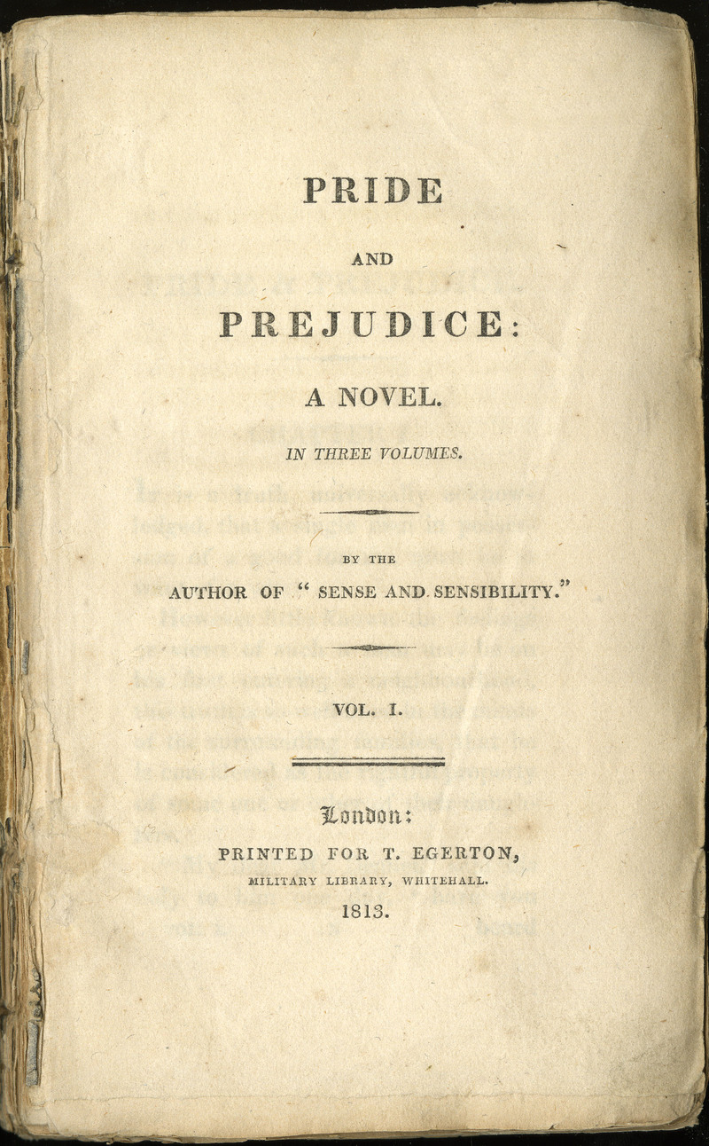 pride and prejudice a romance novel? title page